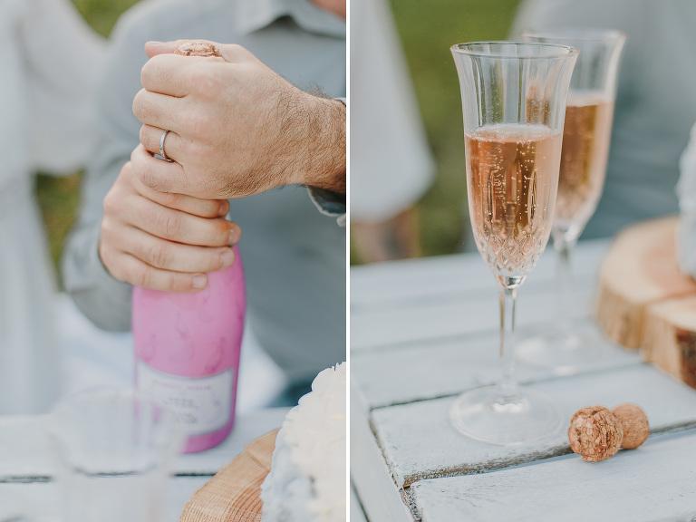 Smash the cake en amoureux - Premier anniversaire de mariage