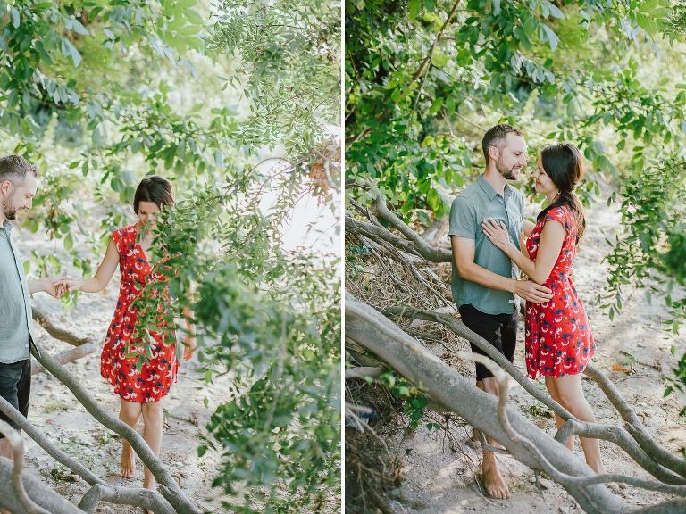 Séance photo dans la forêt à Cardet dans le Gard