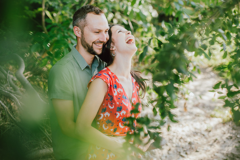 Photos de couple dans la forêt à Cardet dans le Gard